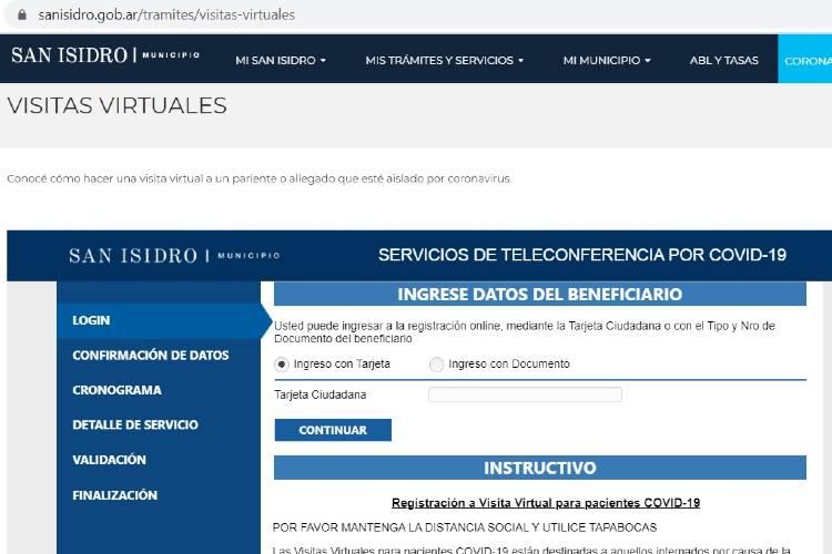 En San Isidro habrá visitas virtuales para allegados de pacientes con Covid-19