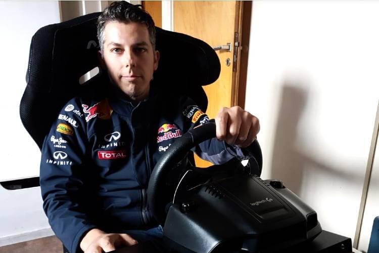 Christian Andlovec, piloto de Villa Martelli, participará este domingo en la carrera de TC Pickup Virtual de la ACTC