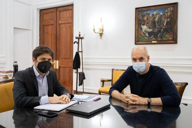 Kicillof contó que le pidió en público a Rodríguez Larreta que se vacune contra el coronavirus