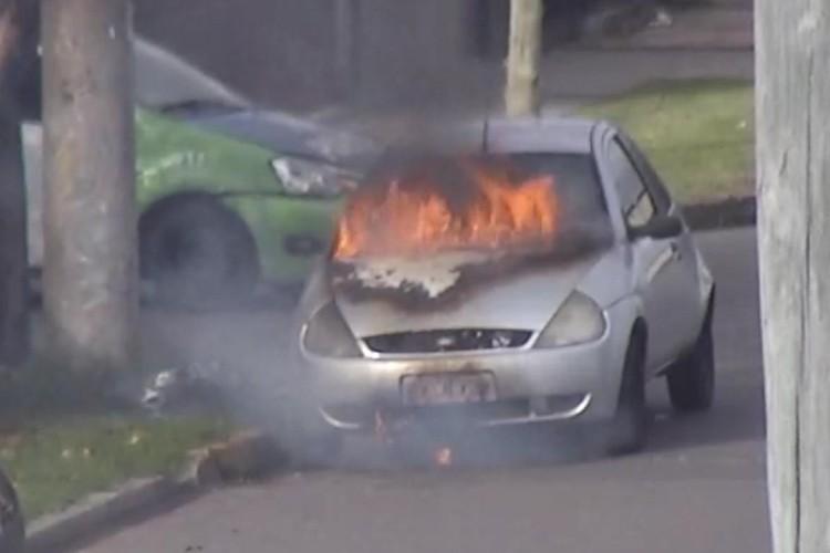 Las cámaras de Tigre detectaron un incendio vehicular