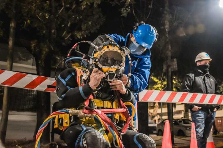 Malena Galmarini supervisó operativo de Inspección de Ríos Subterráneos de AySA en la zona norte