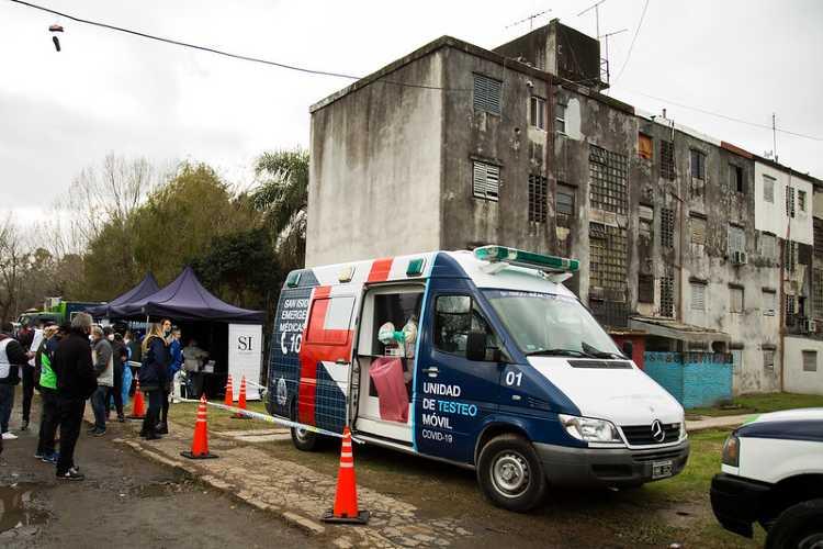 San Isidro realizó una ronda sanitaria en el barrio Santa Rita - Coconavirus