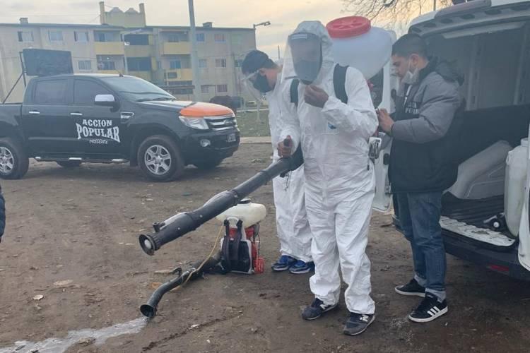 Jornada de Desinfección en Barrio Almirante Brown de Tigre