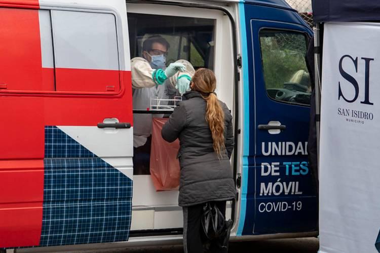 Coronavirus en San Isidro: 720 vecinos se acercaron al puesto móvil de detección en Beccar