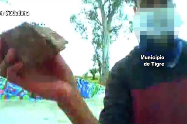 Tigre: Destrozó un tótem de seguridad en Rincón de Milberg y fue detenido