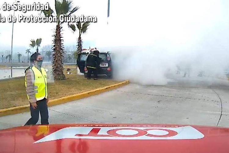 Tigre: Conducía alcoholizado, chocó y se le incendió el vehículo