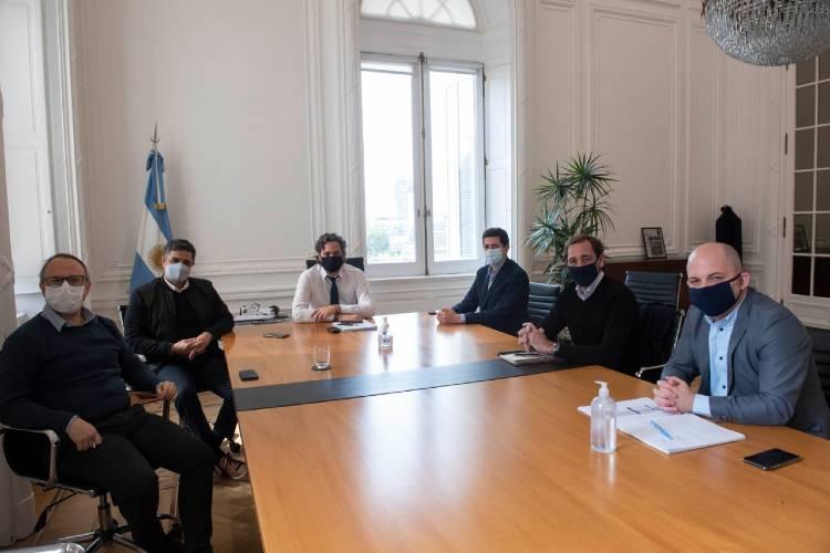 Jorge Macri participó de una  reunión con Cafiero y Wado de Pedro