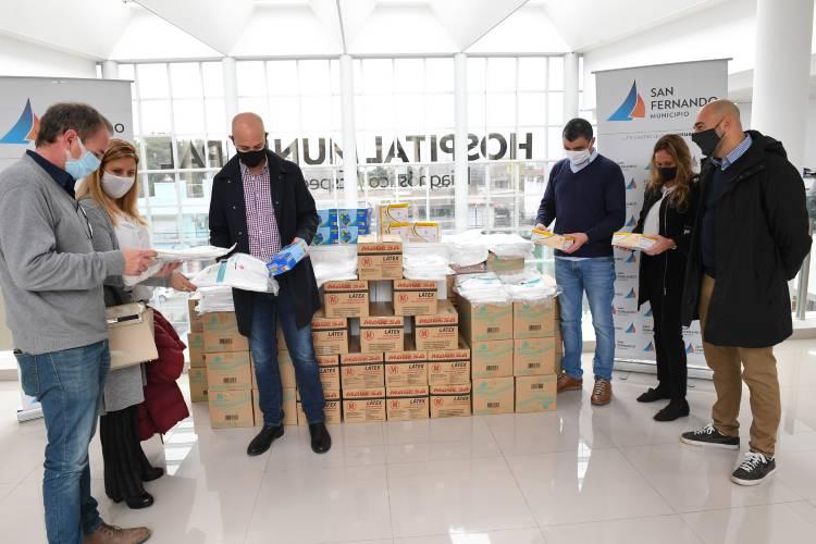 El Hospital Municipal de San Fernando recibió una donación del Banco Galicia para el cuidado del personal médico