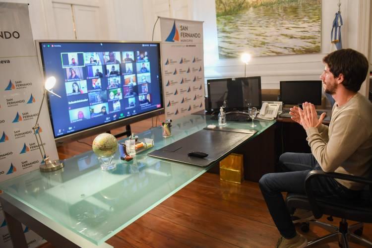 Juan Andreotti celebró por videoconferencia el Día del Fomentista con 50 instituciones sanfernandinas