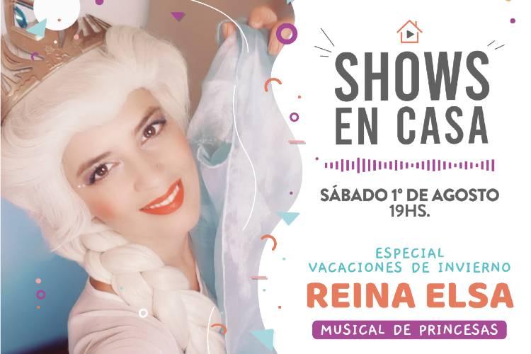 Shows en casa especial vacaciones de invierno - Reina Elsa