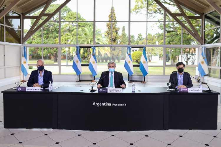 Alberto Fernández  anunció la continuidad de las condiciones de aislamiento social para el AMBA