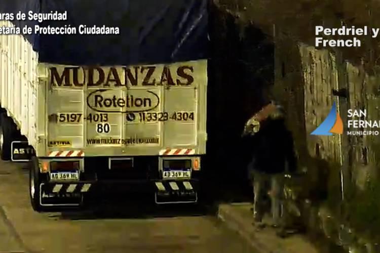 San Fernando: las Cámaras permitieron desbaratar un robo de materiales de construcción