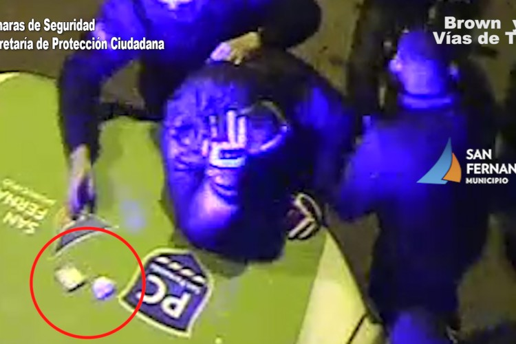 En San Fernando Patrullas y Cámaras logran detener a dos motociclistas con estupefacientes