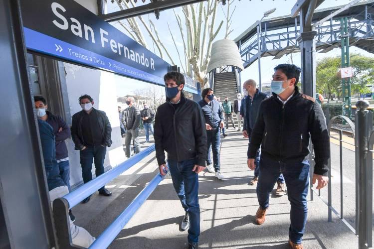 Juan Andreotti firmó convenios con Trenes Argentinos