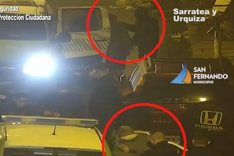 Robaron una heladera y los detectaron por las cámaras