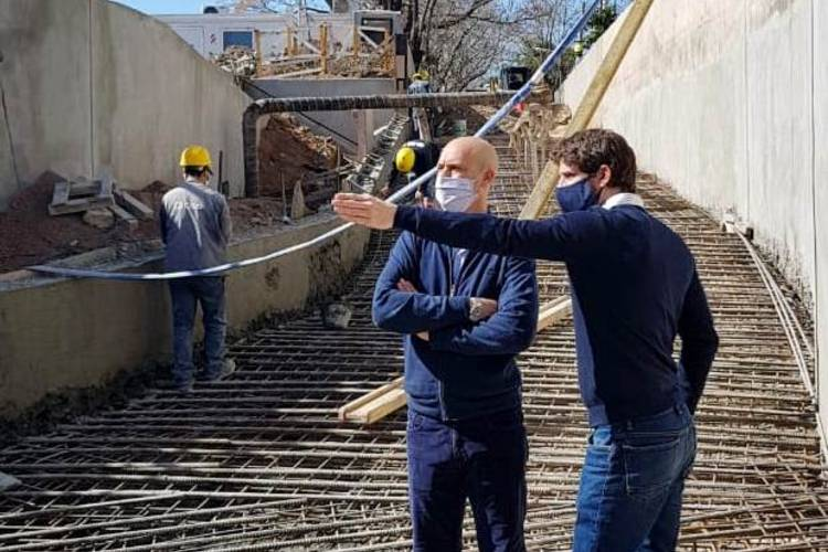 Juan Andreotti supervisó el avance de obra del túnel de la calle Martín Rodríguez