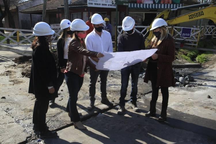 Tigre: Malena Galmarini y concejales del Frente de Todos recorrieron obras en la zona norte