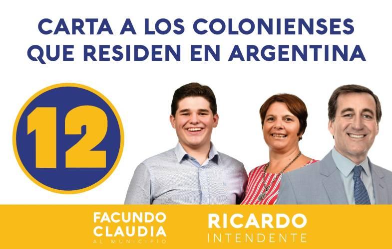 lista departamental es la 12 y la lista al municipio de Carmelo la 12A