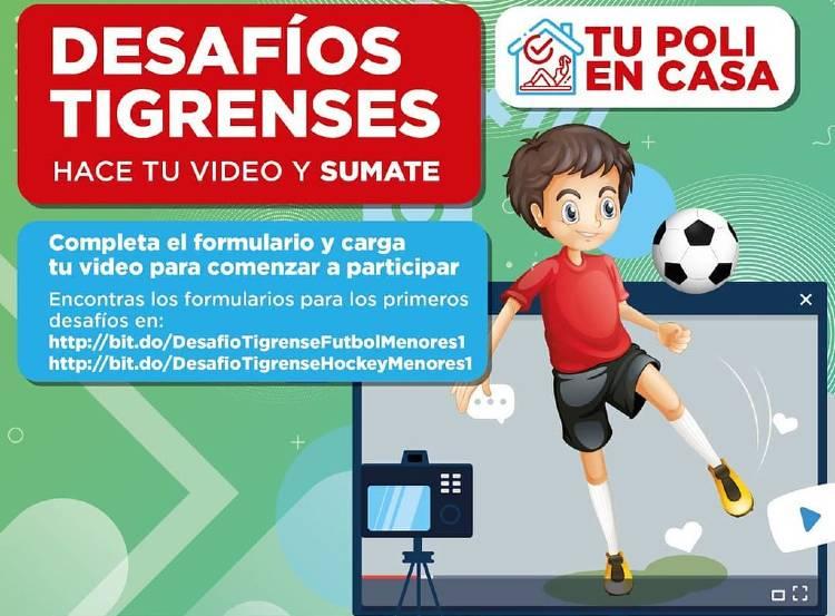 """""""Desafíos Tigrenses"""", un concurso deportivo virtual para la juventud de la ciudad"""