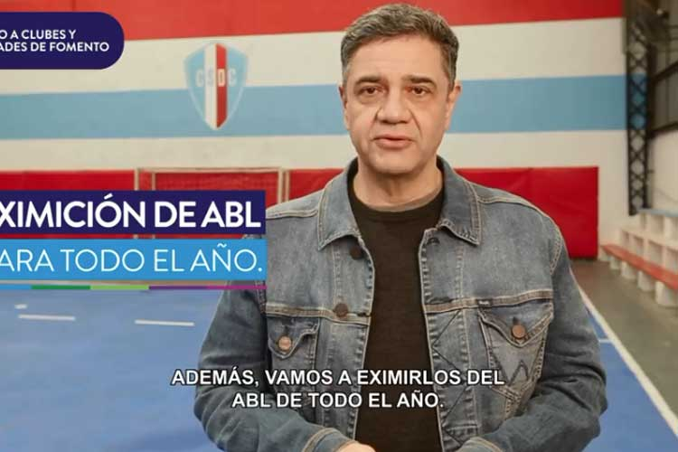 Vicente López anunció medidas de apoyo económico a clubes de barrio y sociedades de fomento