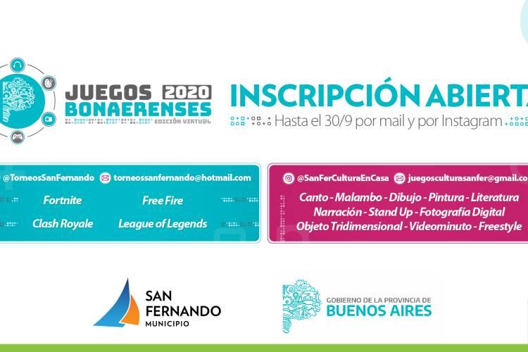San Fernando inició la inscripción de los Juegos Bonaerenses 2020 para Deportes Electrónicos