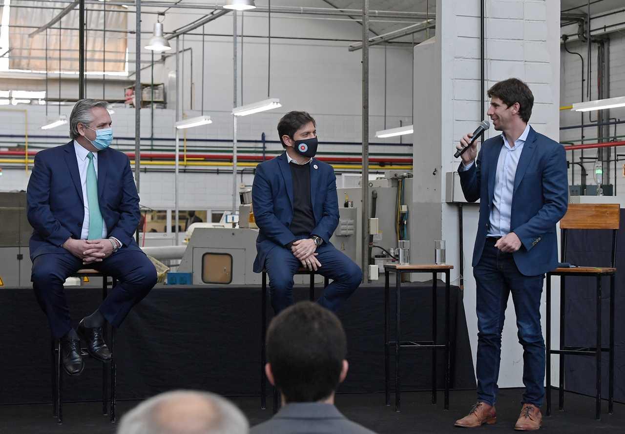 Juan Andreotti participó junto al Presidente del lanzamiento del programa Precios Cuidados para la Construcción