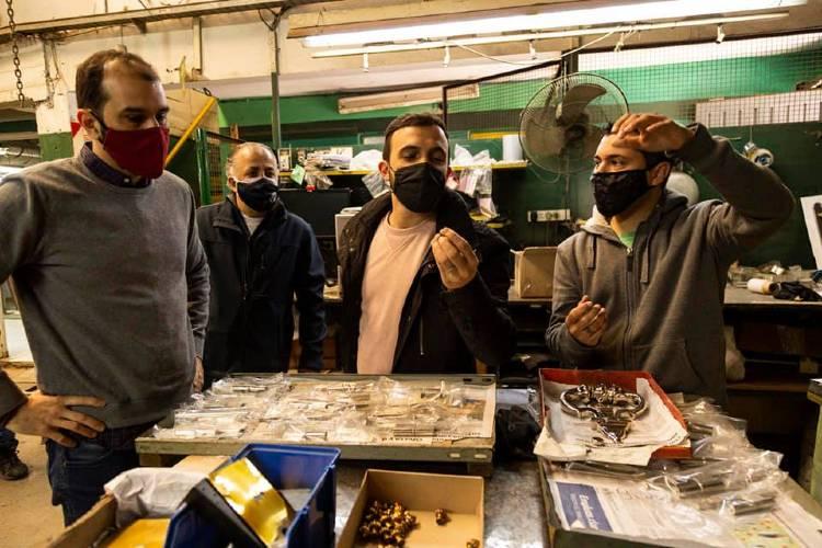 Leonardo Grosso y Joaquín Noya visitaron Brassroot en apoyo a sus trabajadores