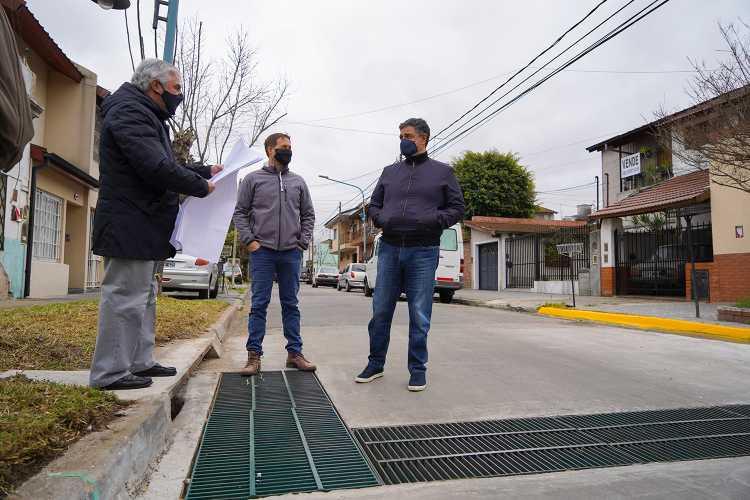 Vicente López realizó obras prevenir inundaciones en Florida Oeste