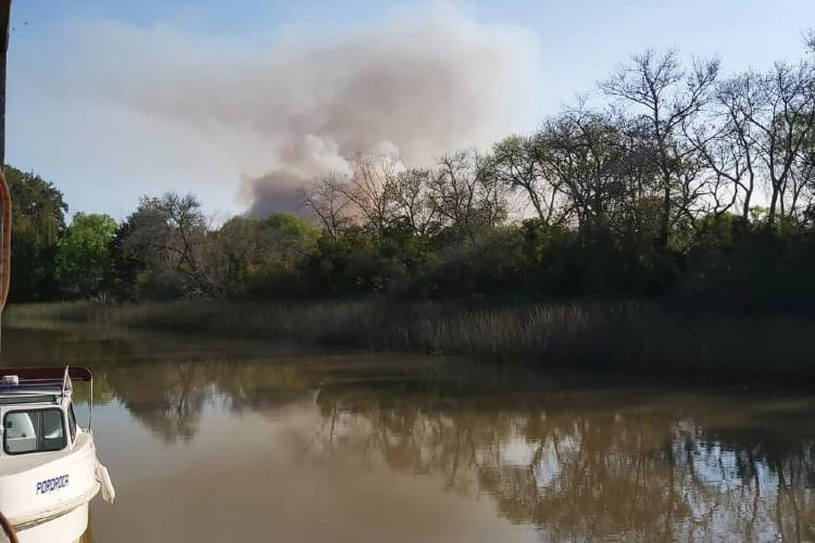 """Advierten que la """"situación es crítica"""" por el clima que favorece los incendios en el Delta"""