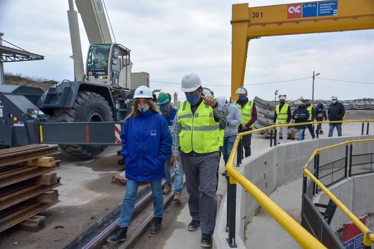 Malena Galmarini recorrió las obras del Sistema Agua Sur en Bernal