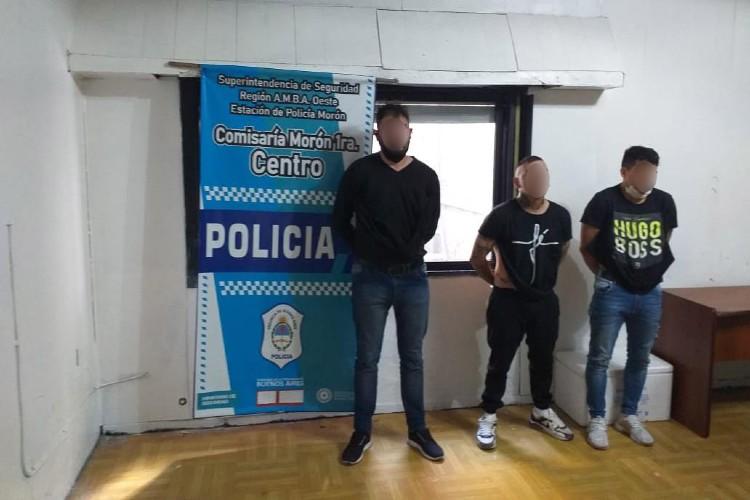 Tres detenidos tras una salidera en la que robaron una mochila con 146.000 pesos en Morón