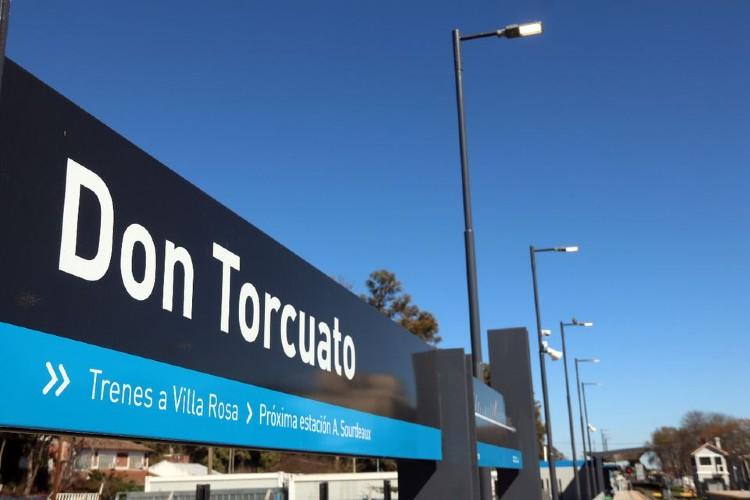 Se inauguran las  obras de renovación en la estación Don Torcuato