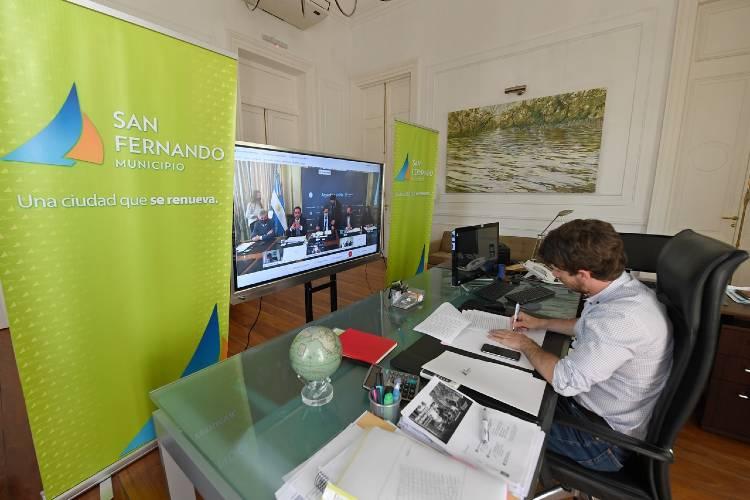 Juan Andreotti firmó un convenio de adhesión al Programa de Gestión Integral de Residuos Sólidos Urbanos