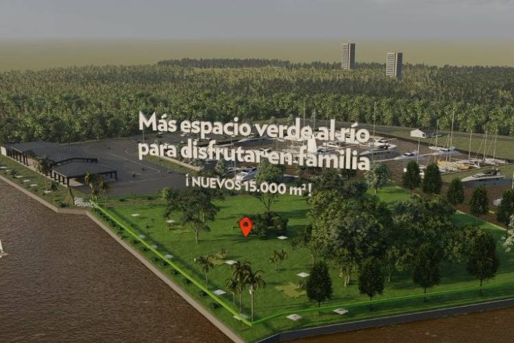 El Intendente Juan Andreotti firmó un convenio con el Complejo Náutico Canestrari que permitirá al Municipio ampliar el Parque Náutico