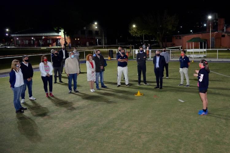 El intendente, Julio Zamora, el presidente de la URBA, Santiago Marotta, y directivos de los clubes locales visitaron las instalaciones del Tigre Rugby Club