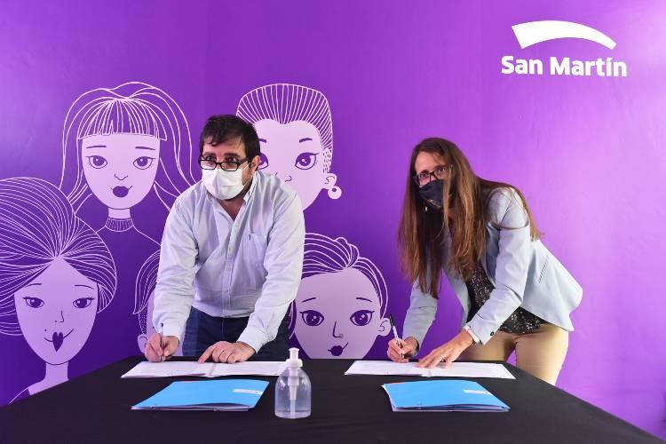 En San Martín firmaron convenios de asistencia y acompañamiento en casos de violencia de género