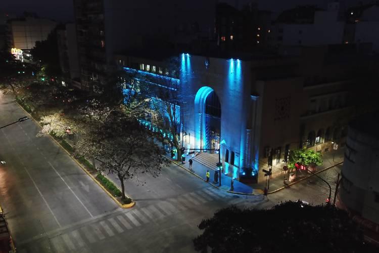Dislexia: Vicente López iluminó de azul turquesa el palacio municipal