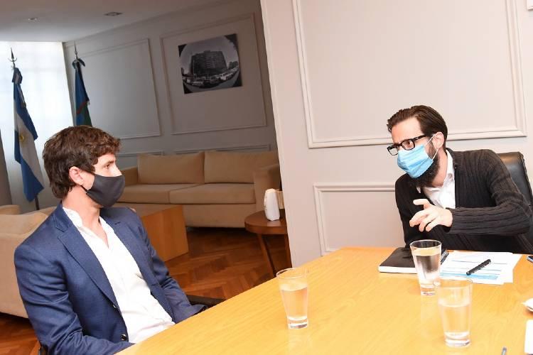 Andreotti se reunió con Simone por obras para San Fernando