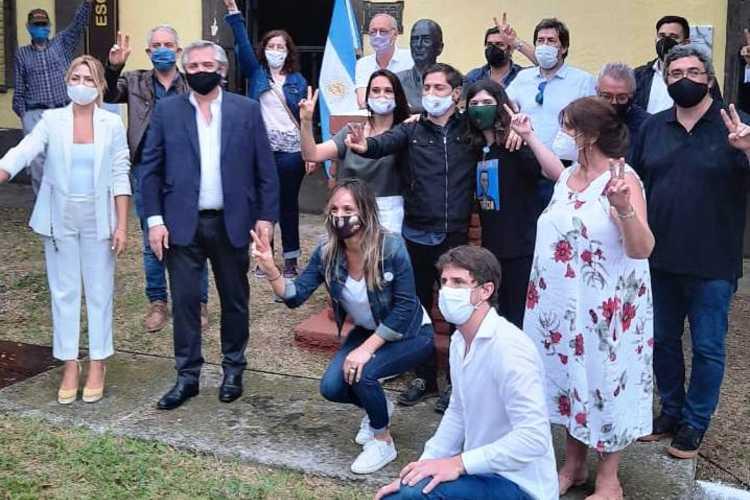 Andreotti y Zamora acompañaron al Presidente en la conmemoración del Día de la Lealtad