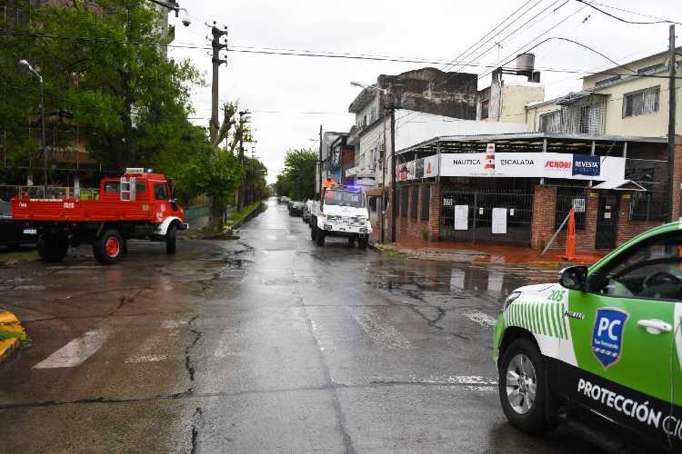 San Fernando realizó tareas preventivas frente al alerta por tormentas fuertes y sudestada