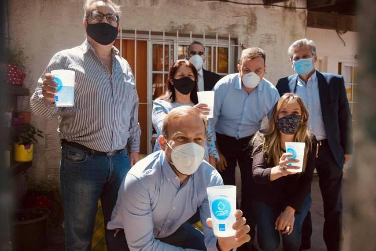 Galmarini y Granados habilitaron una nueva red de agua potable en Ezeiza