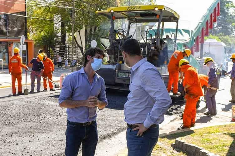 Juan Andreotti supervisó la obra de repavimentación de la Av. Libertador