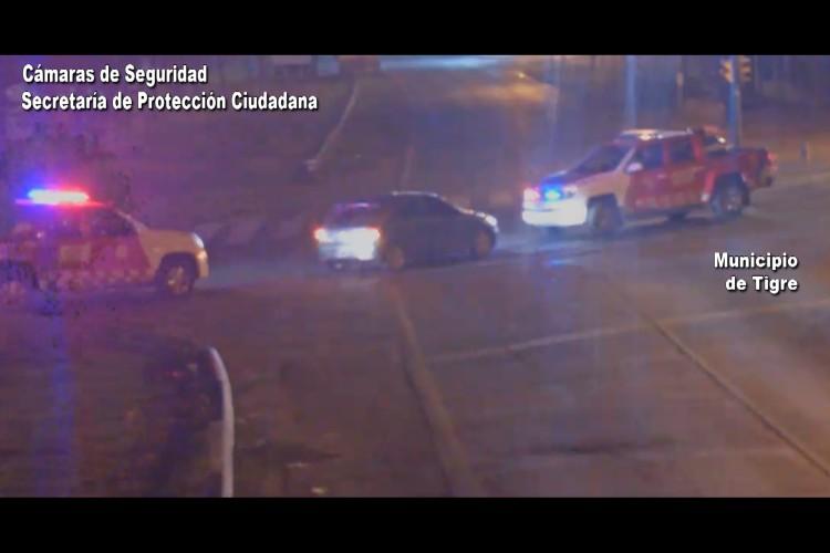 Conductor ebrio y en contramano detenido gracias a las cámaras de Tigre