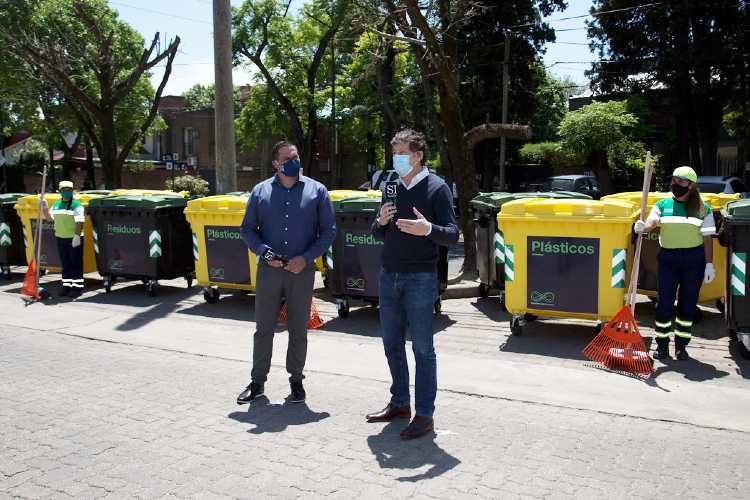 San Isidro sumó 150 nuevos contenedores para separar residuos