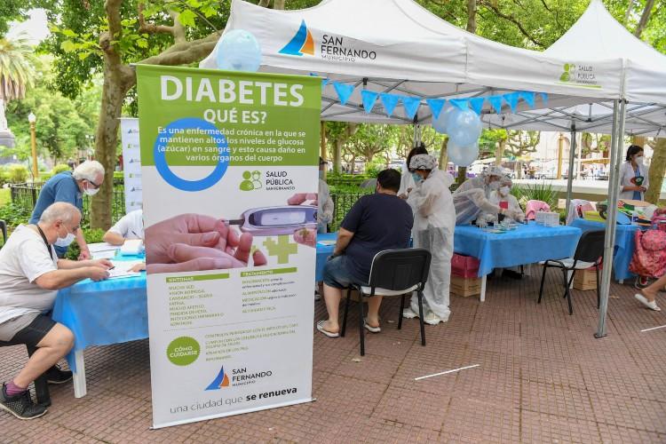 Se realizó en San Fernando una jornada por el Día Mundial de la Diabetes