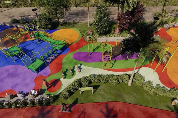 Juan Andreotti anunció la construcción de un nuevo Parque donde fue entubado el zanjón Fate