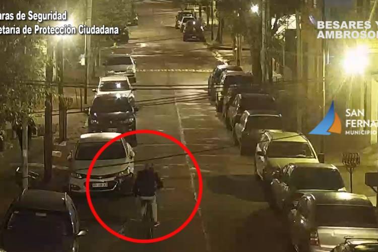 San Fernando Cámaras de Seguridad: Dos detenidos por el robo de una bicicleta