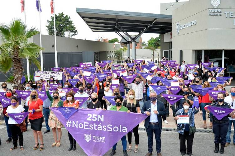 25N: Tigre conmemoró el Día Mundial de la Eliminación de la Violencia contra las Mujeres