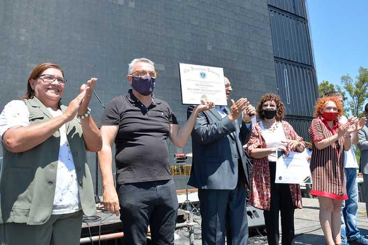 Julio Zamora acompañó el cierre de año de Iglesias Unidas de Tigre