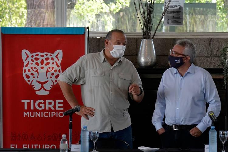 Zamora y Berni anunciaron inversiones en equipamiento policial para Tigre